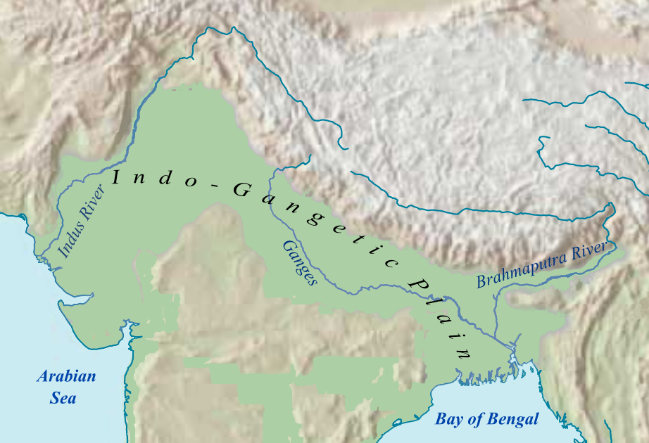 File:Indo-Gangetic Plain.en.png - Wikimedia Commons Indo Gangetic Plain Map