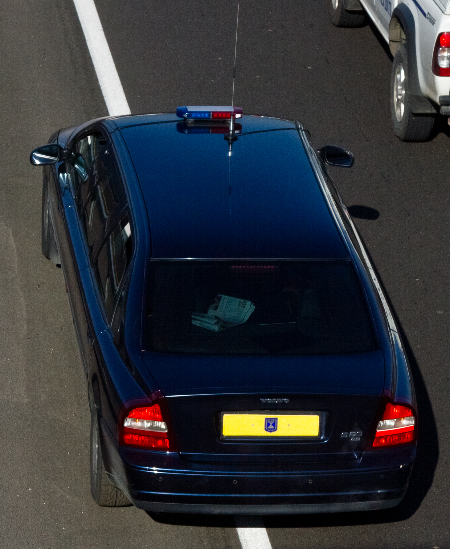 Israeli_Government_Official_Car_-_Volvo_S80_Stretch_Limousine_-_Rear