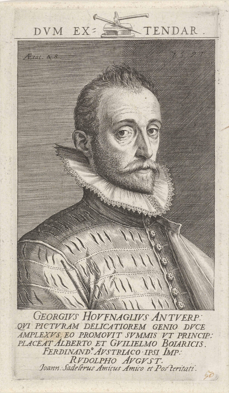 ''Portrait of Joris Hoefnagel'', engraving by [[Jan Sadeler