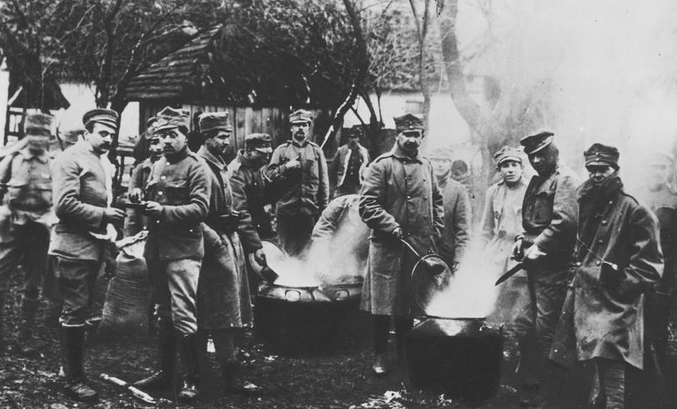 File Kuchnie polowe I Brygady Legionów podczas walk nad