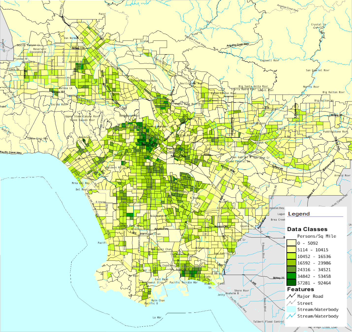 Does LAs Interstate  Split The City The Case Of Crime OC - Los angeles map venice beach