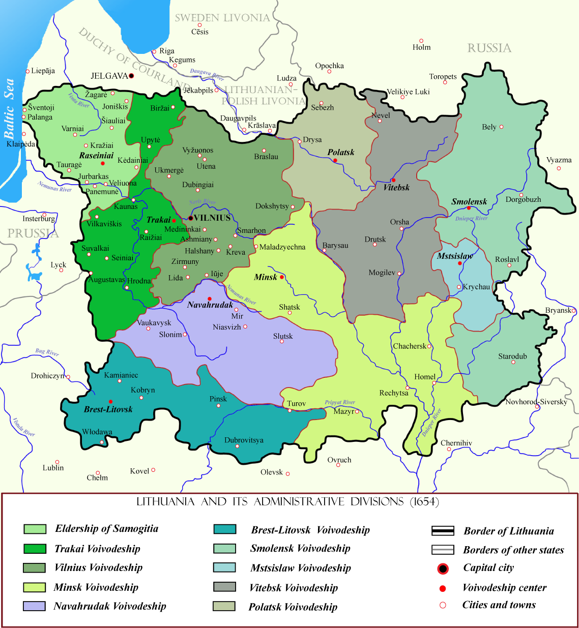 FileLithuania In The Th Centurypng Wikimedia Commons - Where is lithuania