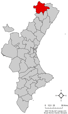 Location in Aragon.