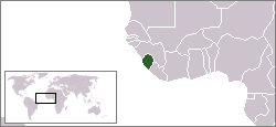 The location of Sierra Leone