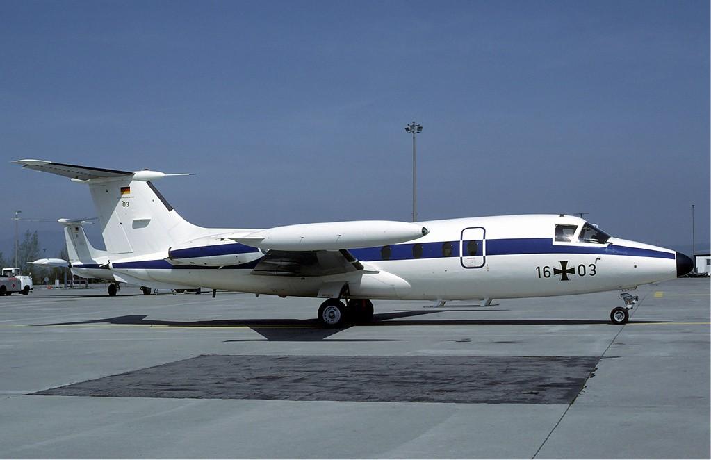 Luftwaffe_Hansa_Jet_at_Basle_-_May_1984.