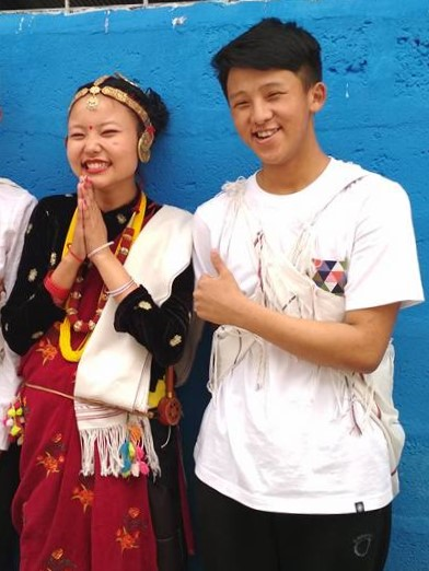 A Magar couple in their ethnic dress. Magar Culture.jpg