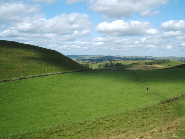 Man, woman and dog (not on lead), Wetton Hill - geograph.org.uk - 1453238