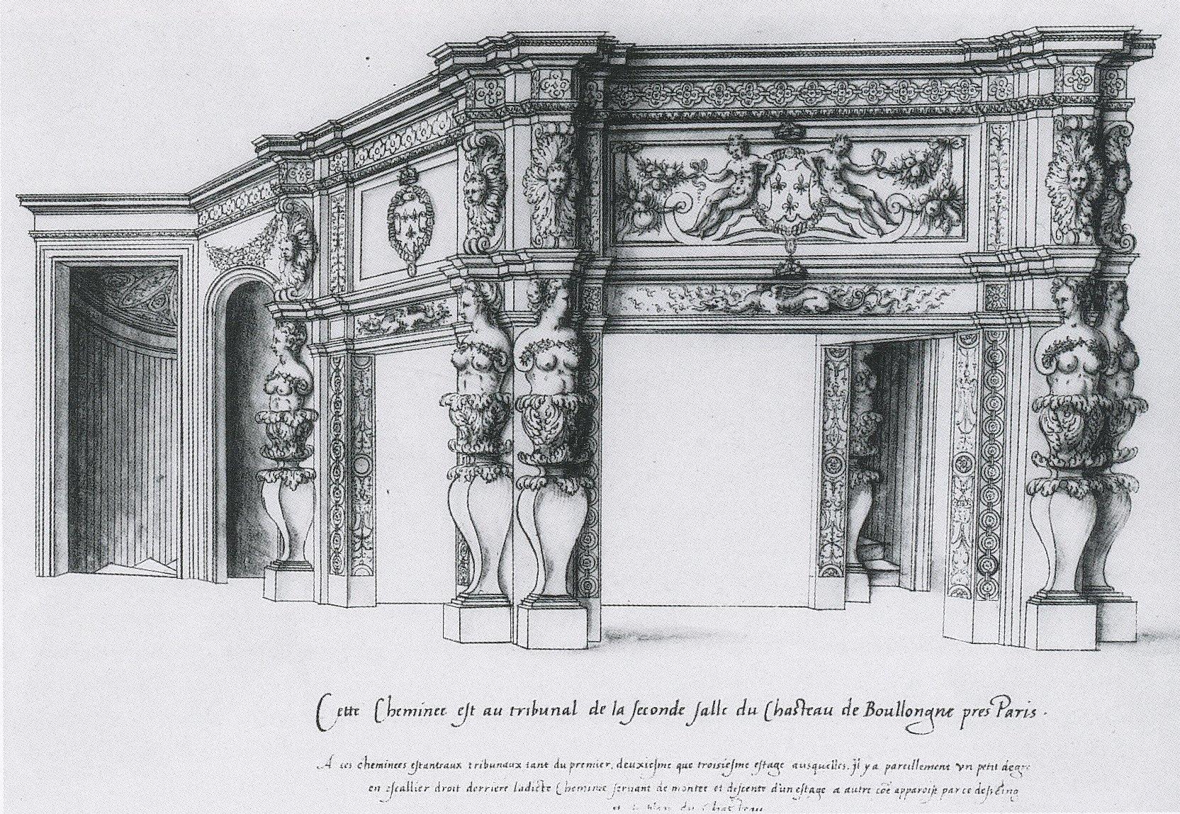 FileMantelpiece Chateau De Madrid Paris Drawing By Jacques Androuet Du Cerceau