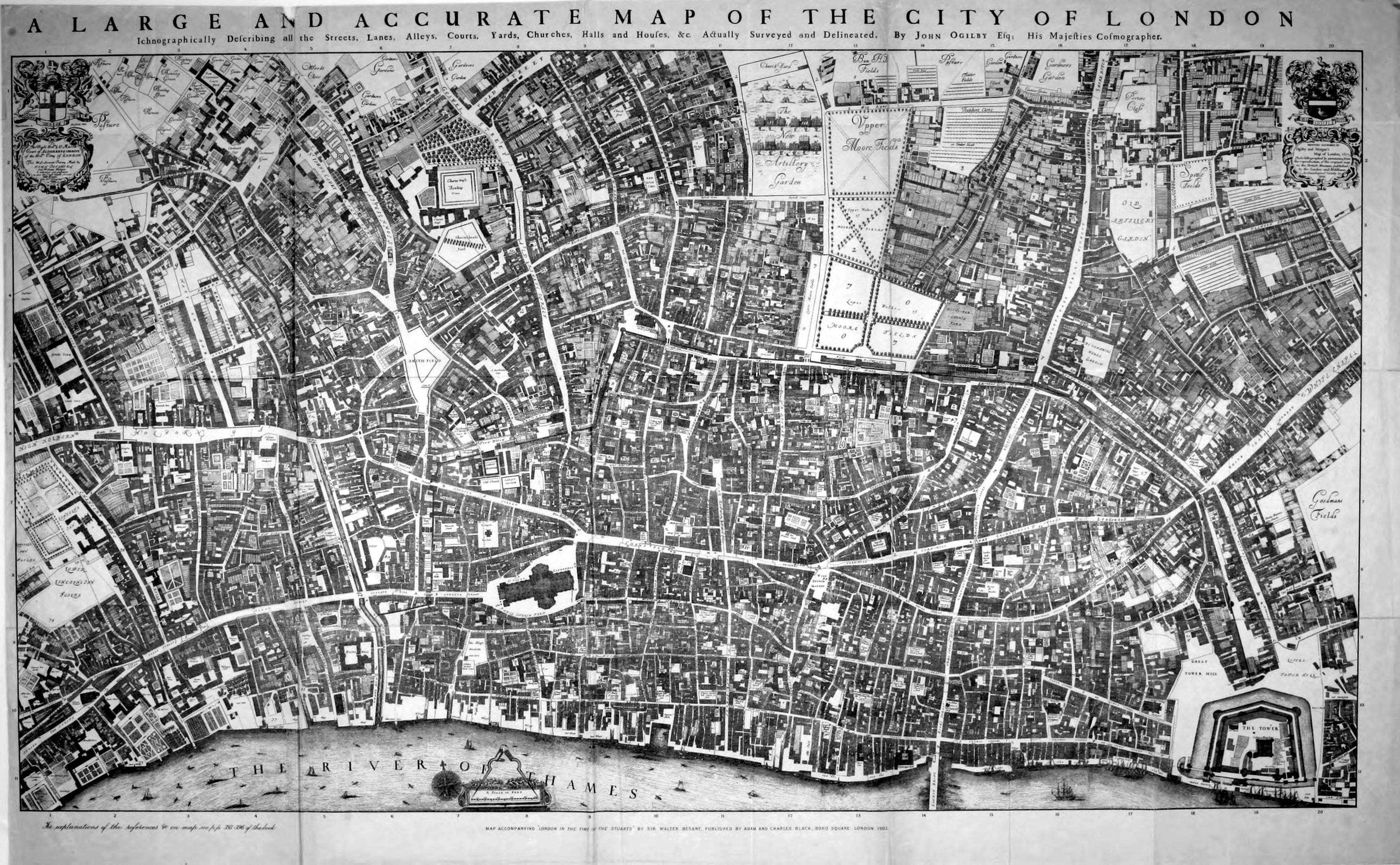 File Maps Of Old London Ogilby Jpg Wikimedia Commons