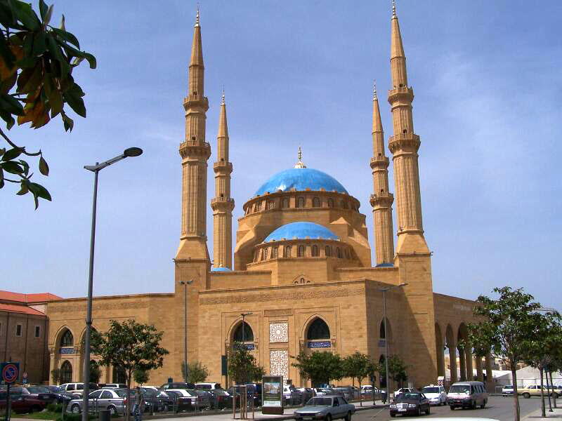 Mohammad al-Amin Mosque built by former Prime Minister Rafik Hariri, he is burried next to it