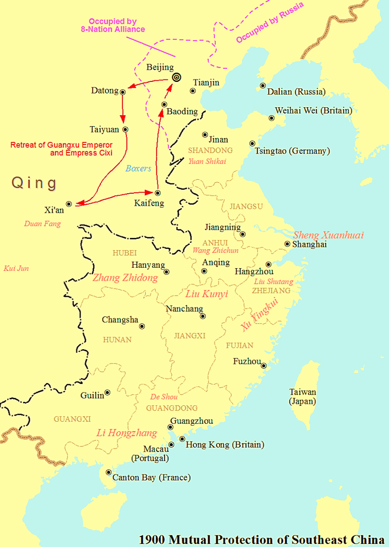 map of south east china Mutual Protection Of Southeast China Wikipedia map of south east china