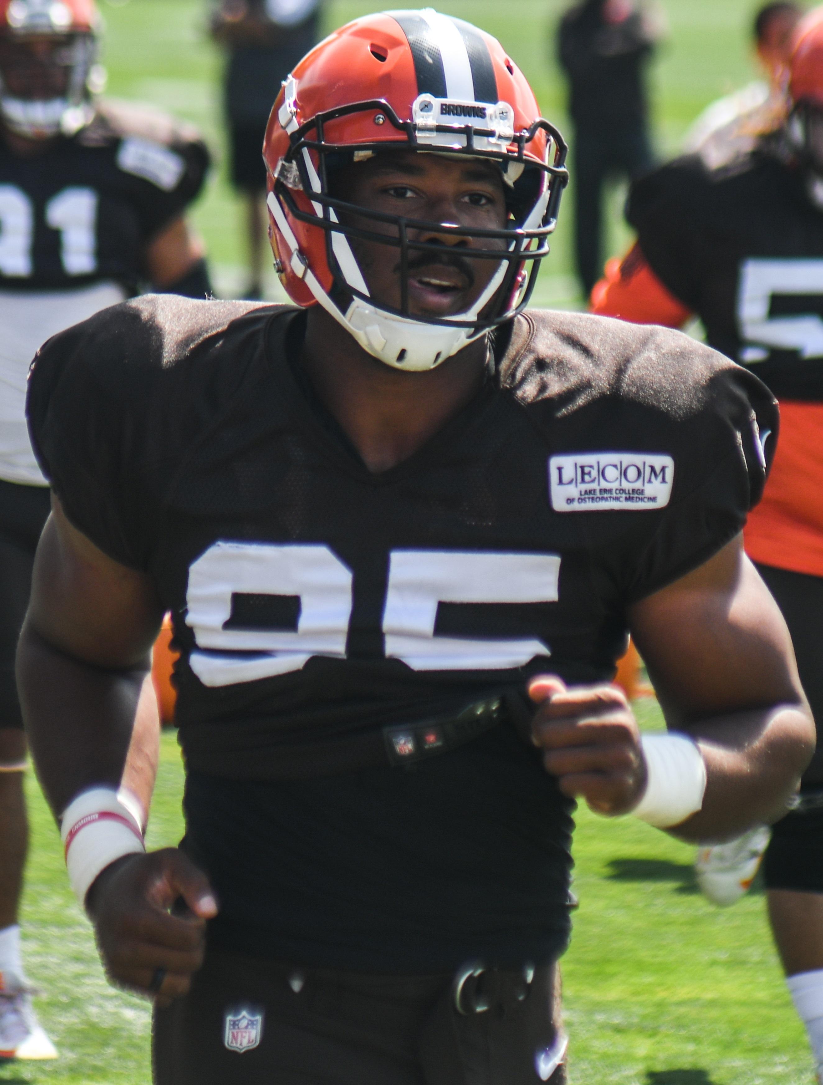 9a631ee2b Garrett in 2017 Browns  training camp