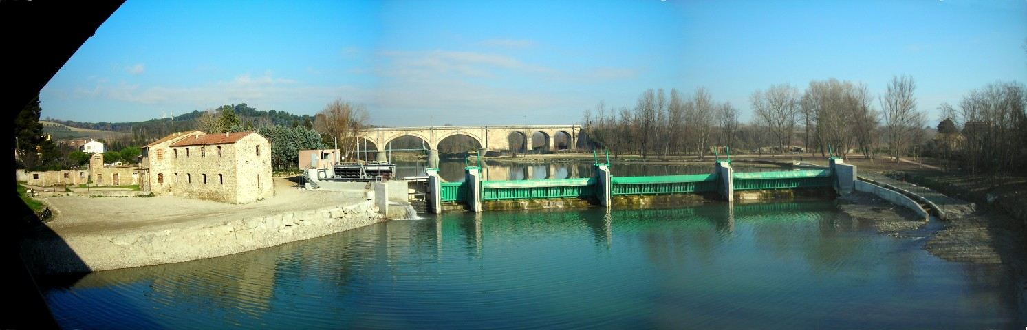 Ponte San Giovanni Italy  City new picture : Description New dam of ponte san giovanni