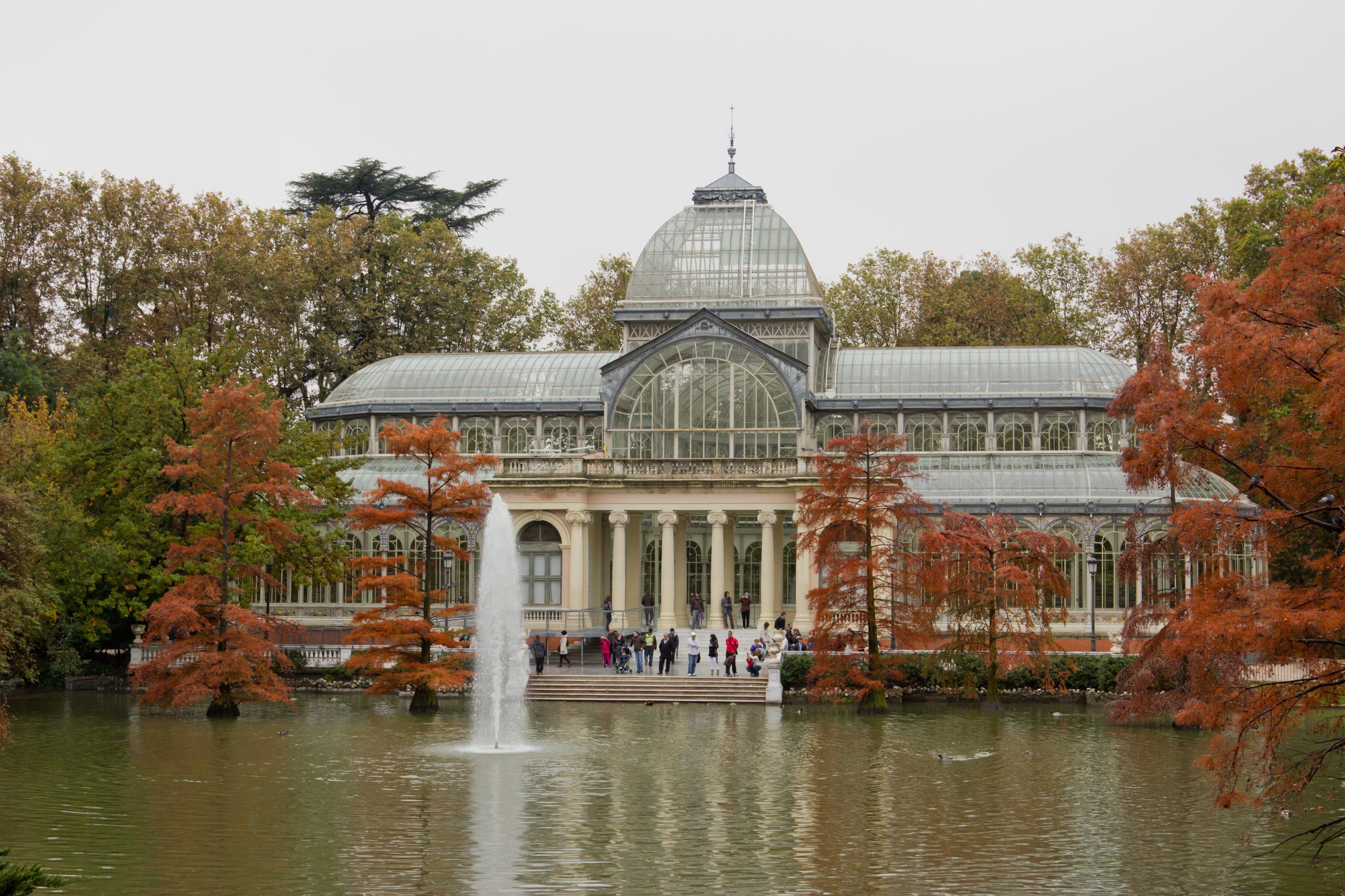 Palacio de cristal del retiro wikiwand for Casa y jardin madrid
