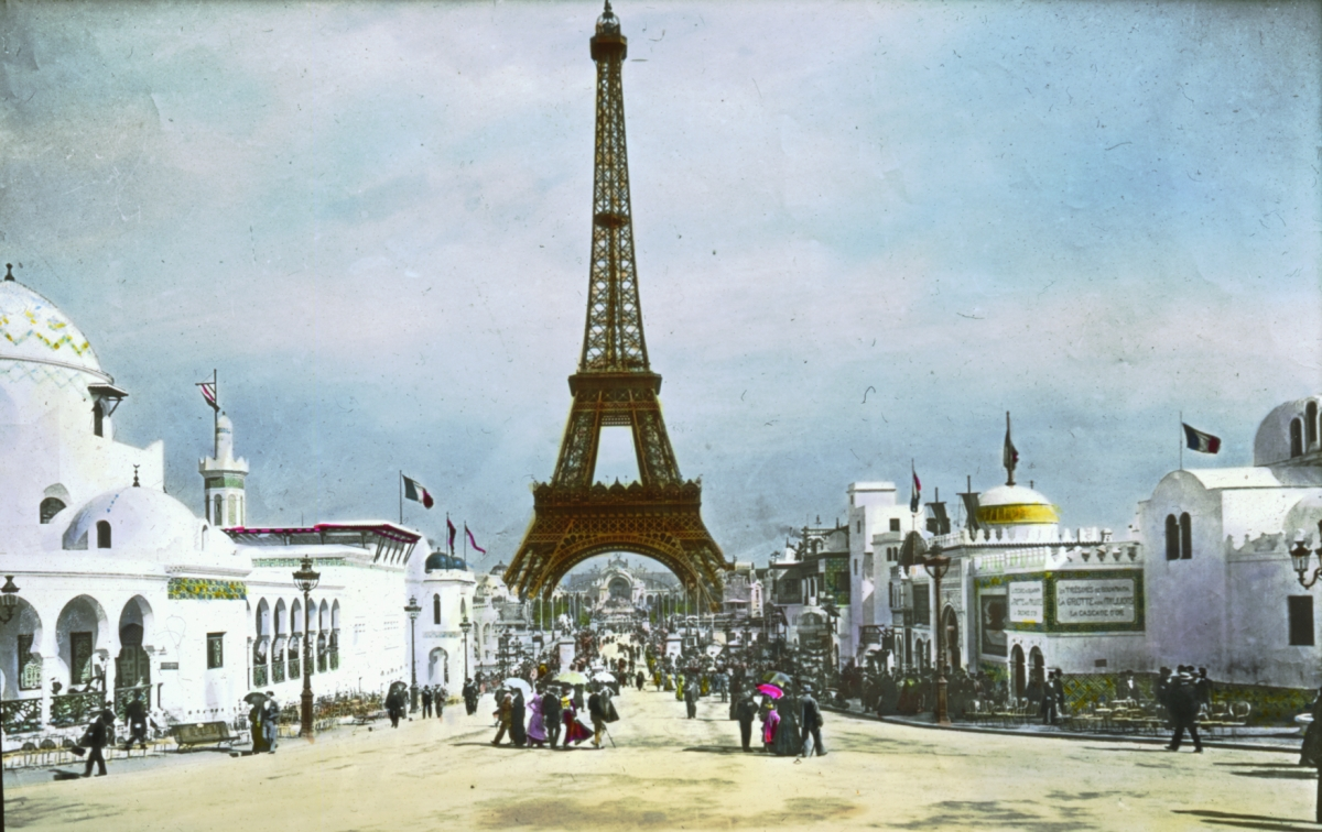 Description paris exposition eiffel tower paris france 1900