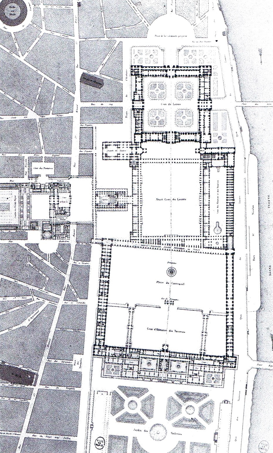 File percier fontaine louvre tuileries wikimedia commons - Plan detaille du jardin des tuileries ...