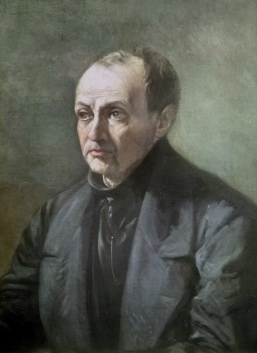 Portrait of auguste comte by louis jules etex