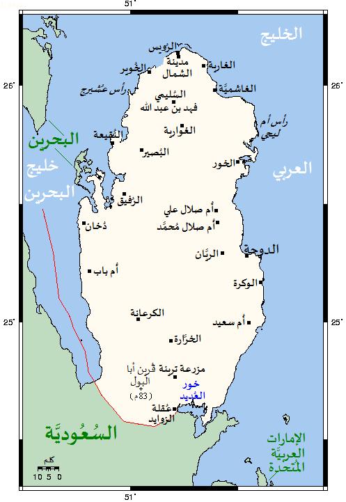 دعوة سعودية لأمير لحضور القمة QatarOMCmap-ar.png