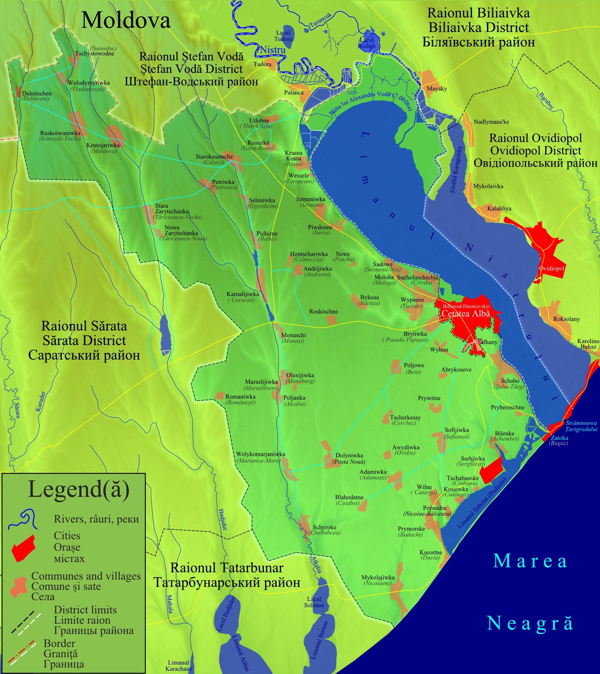 Imagini pentru limanul nistrului map