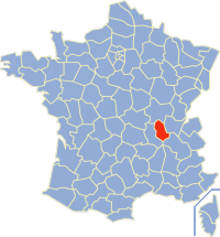 Департамент рона на карті франції