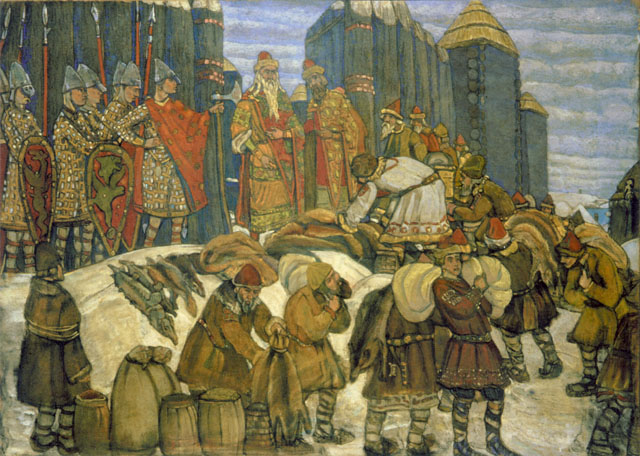 File:Russian prince takes tribute by Roerich.jpg