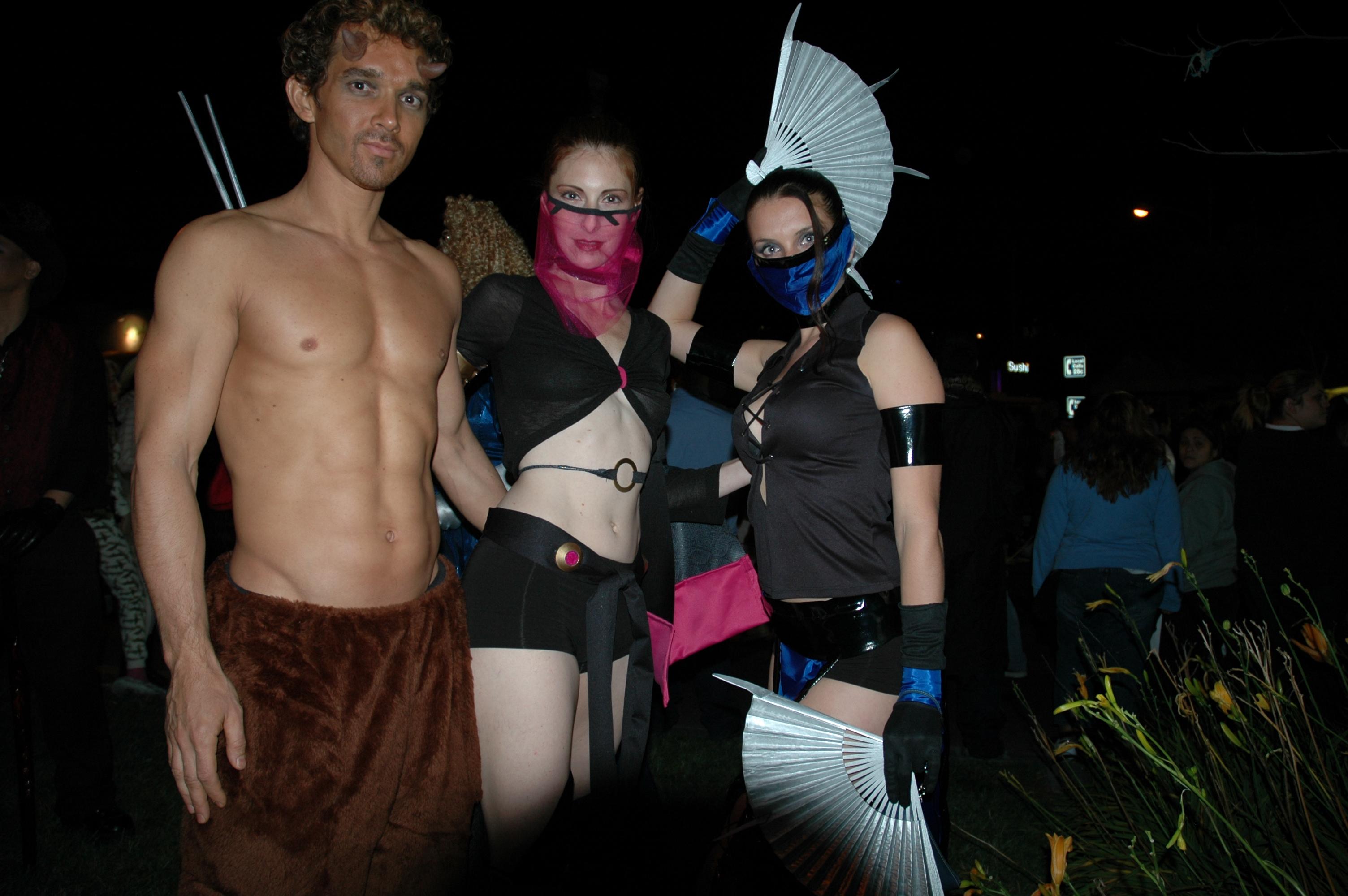 File:Satyr harem girl fan dancer - 2004 West Hollywood Halloween ...