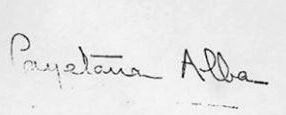 Ficheiro:Signature of The Most Excellent Duchess of Alba (Cayetana Fitz-James Stuart, 18th Duchess of Alba).jpg