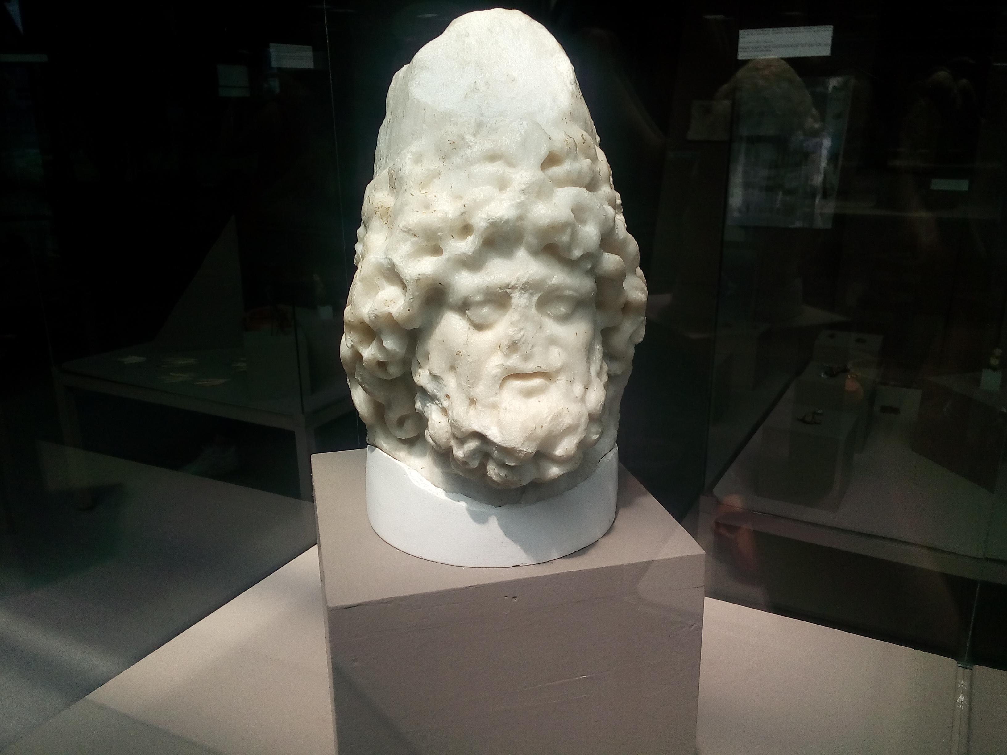 An image of a sculpture of Jupiter Dolichenus.