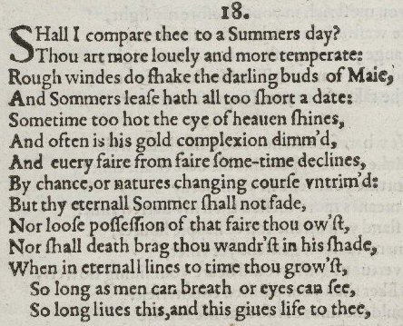 William shakespeare sonnet 18 summary