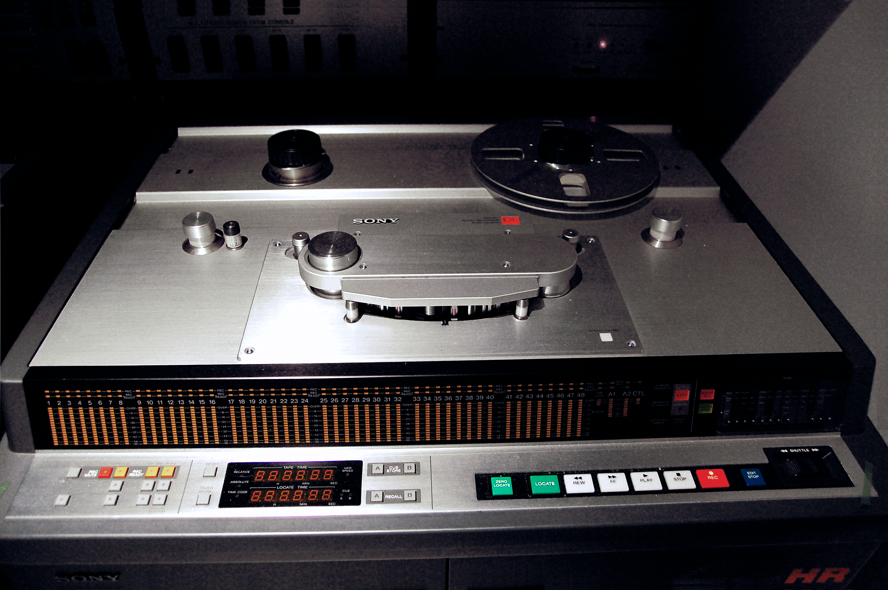 This image is a derivative work of the following image(s): File:Sony PCM-3348HR Digital Audio Multitrack Recorder, Avex Honolulu Studios.jpg licensed