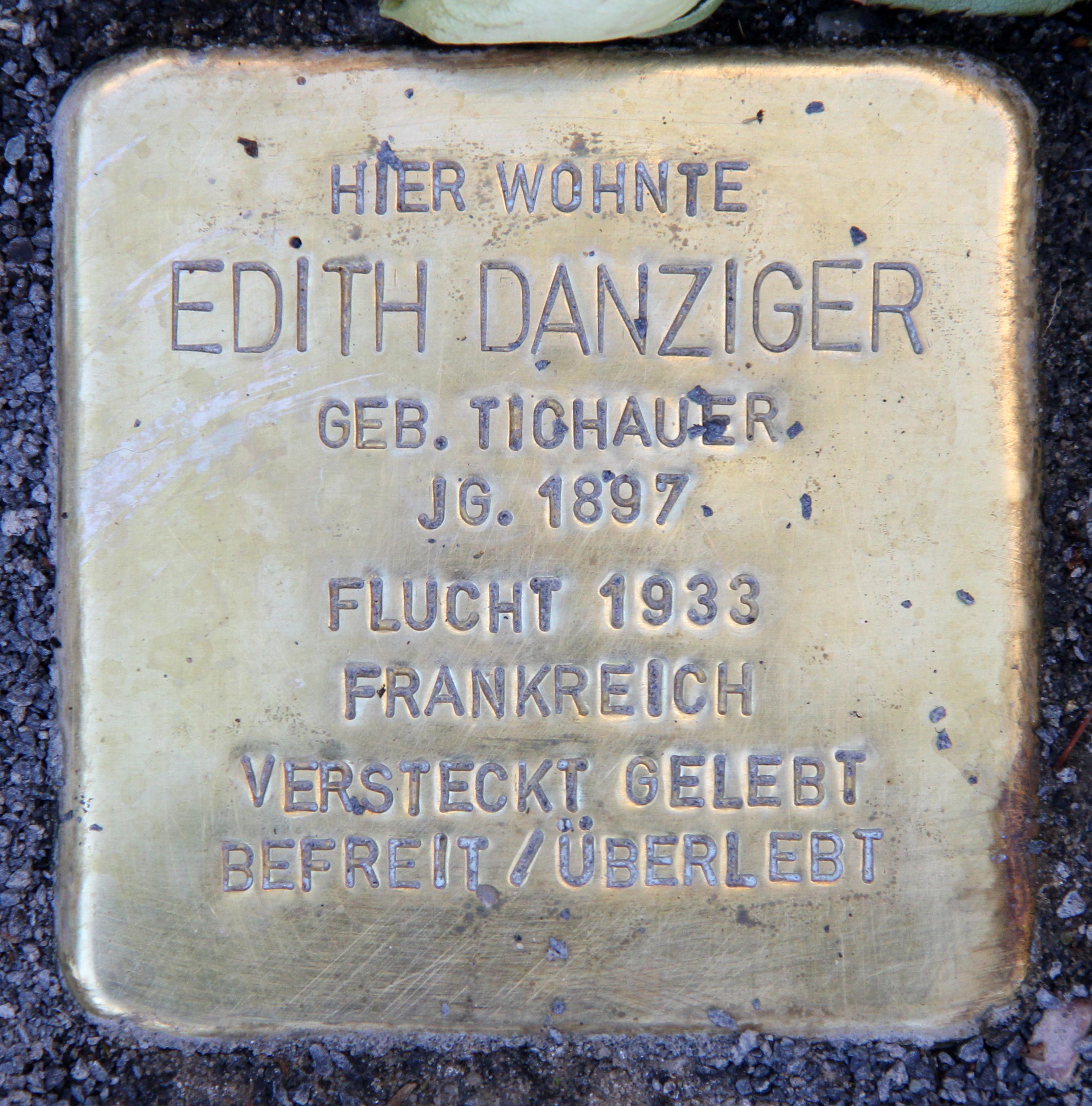 Datei Stolperstein Kuno Fischer Str 15 Charl Edith Danziger Jpg