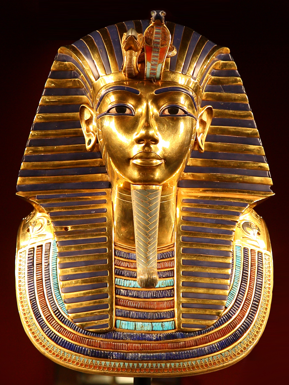 Tutankhamun 39 s mask wikipedia for King tut mask template