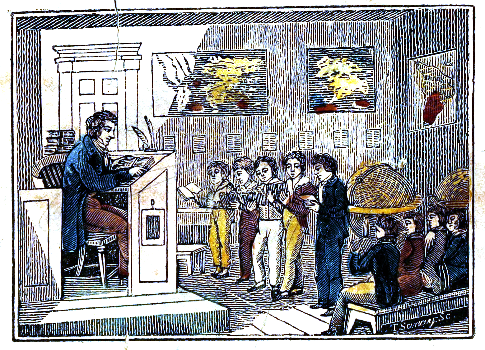 The Ladder of Learning (colored engraving, 1835)