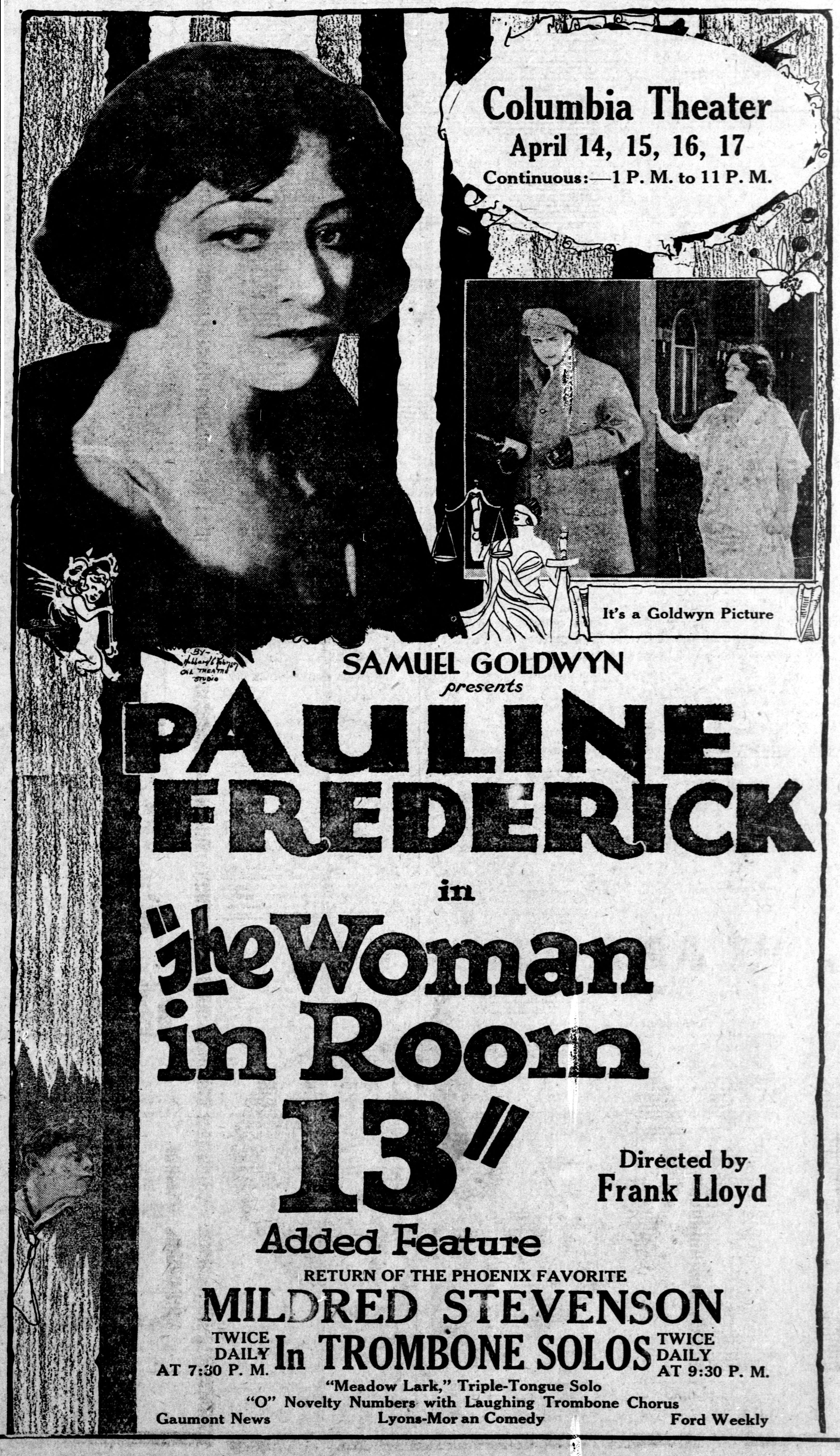File:The Woman in Room 13 - 1920 - newspaper ad jpg
