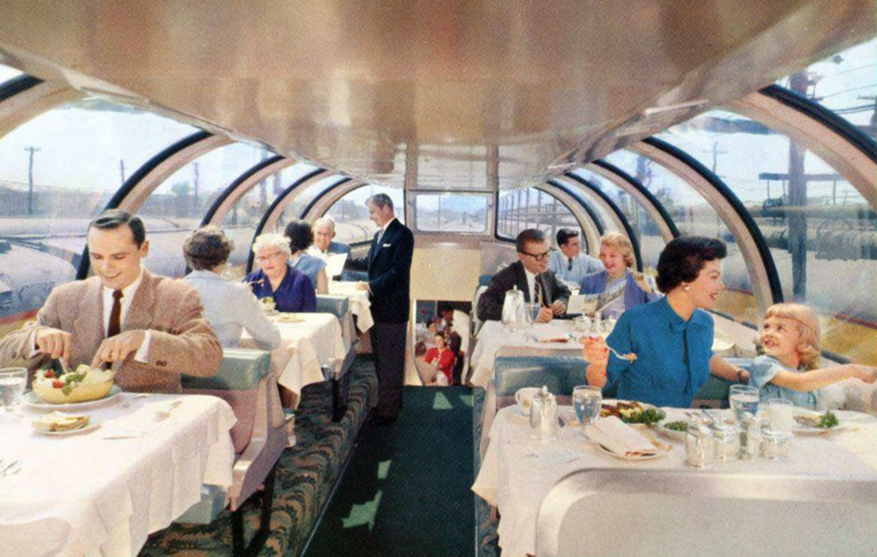 file union pacific railroad city of los angeles astra dome dining car jpg. Black Bedroom Furniture Sets. Home Design Ideas