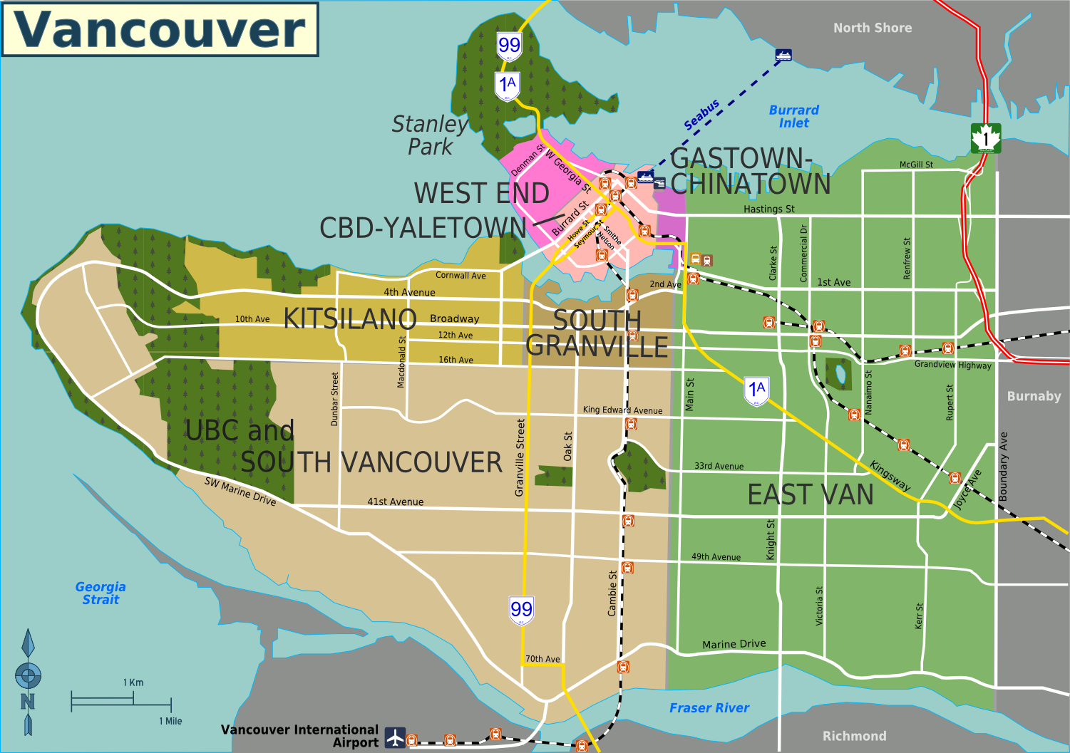 Image result for kitsilano map