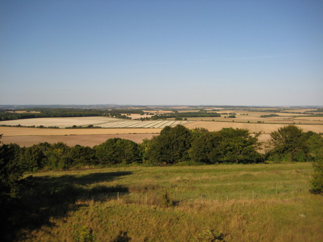 View north from the ramparts of Danebury fort - geograph.org.uk - 1506385
