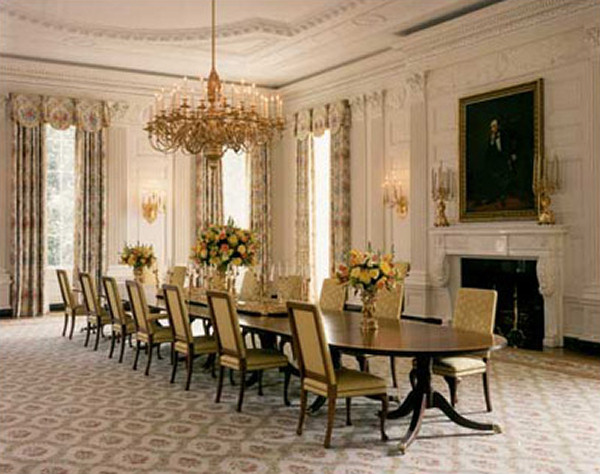 Picture Of A Dining Room Impressive Filewhitehousefloor1Statediningroom  Wikimedia Commons Design Inspiration