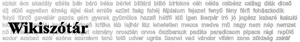 Wikiszótár