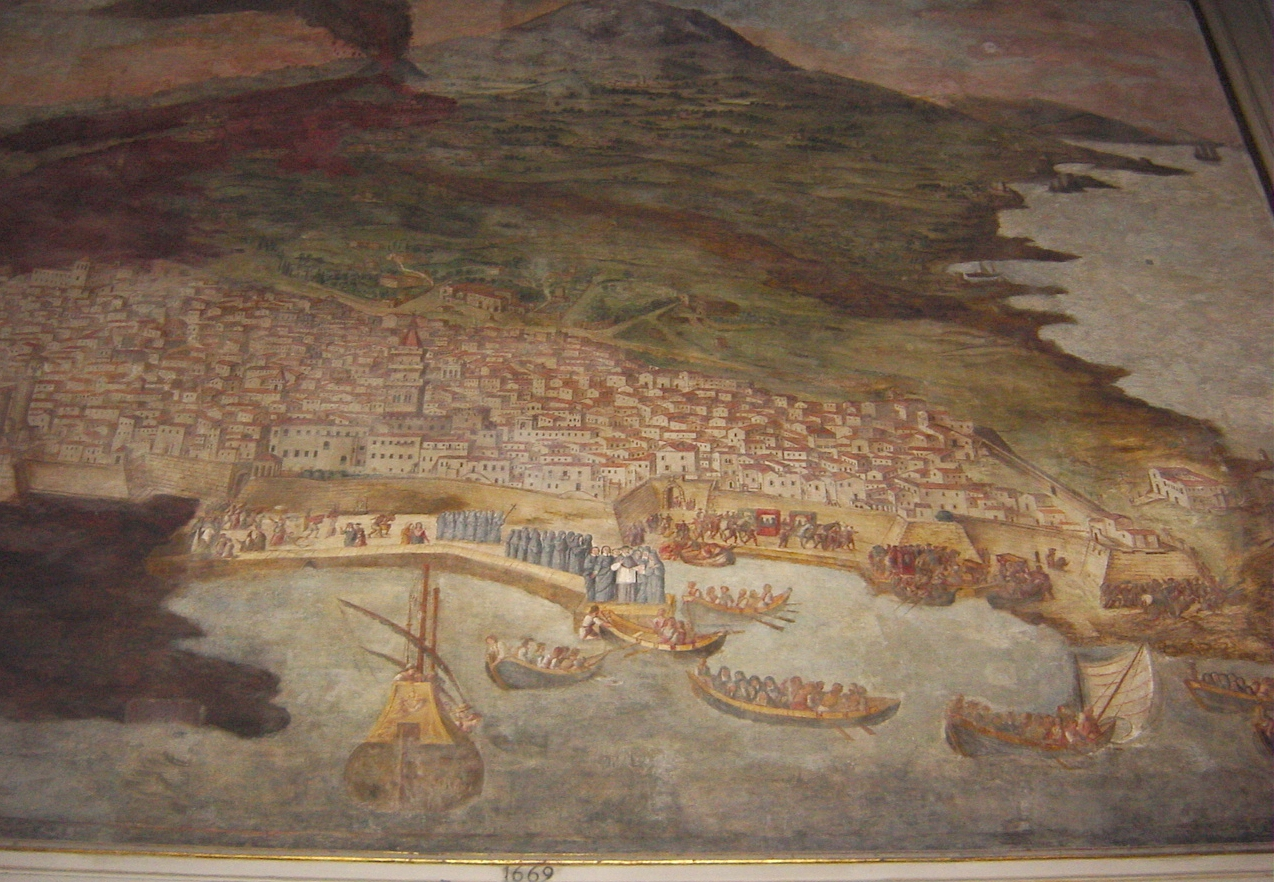 File:1660 - Duomo di Catania - Eruzione dell'Etna del 1669 - Foto