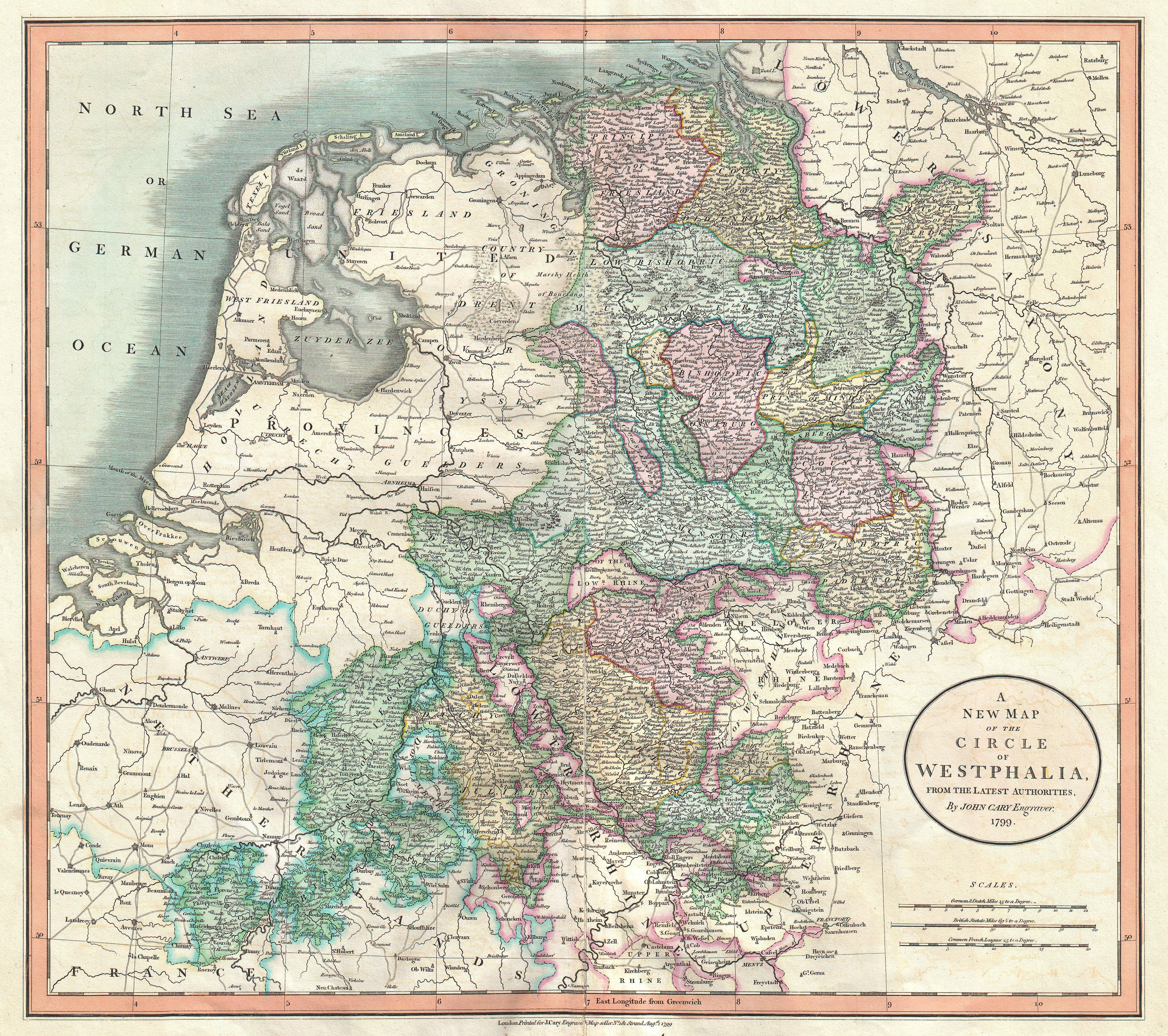 file 1801 cary map of westphalia germany geographicus