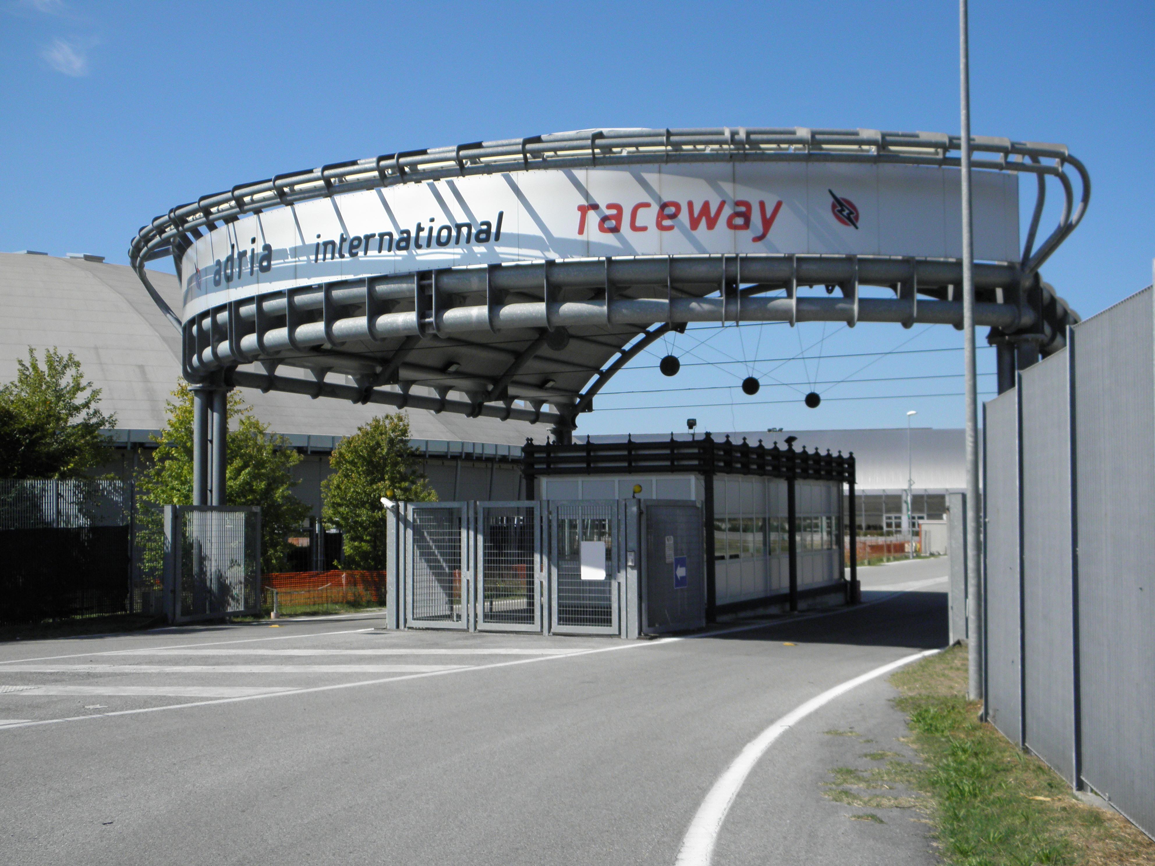 Circuito Adria : File adria international raceway front gate g wikimedia commons