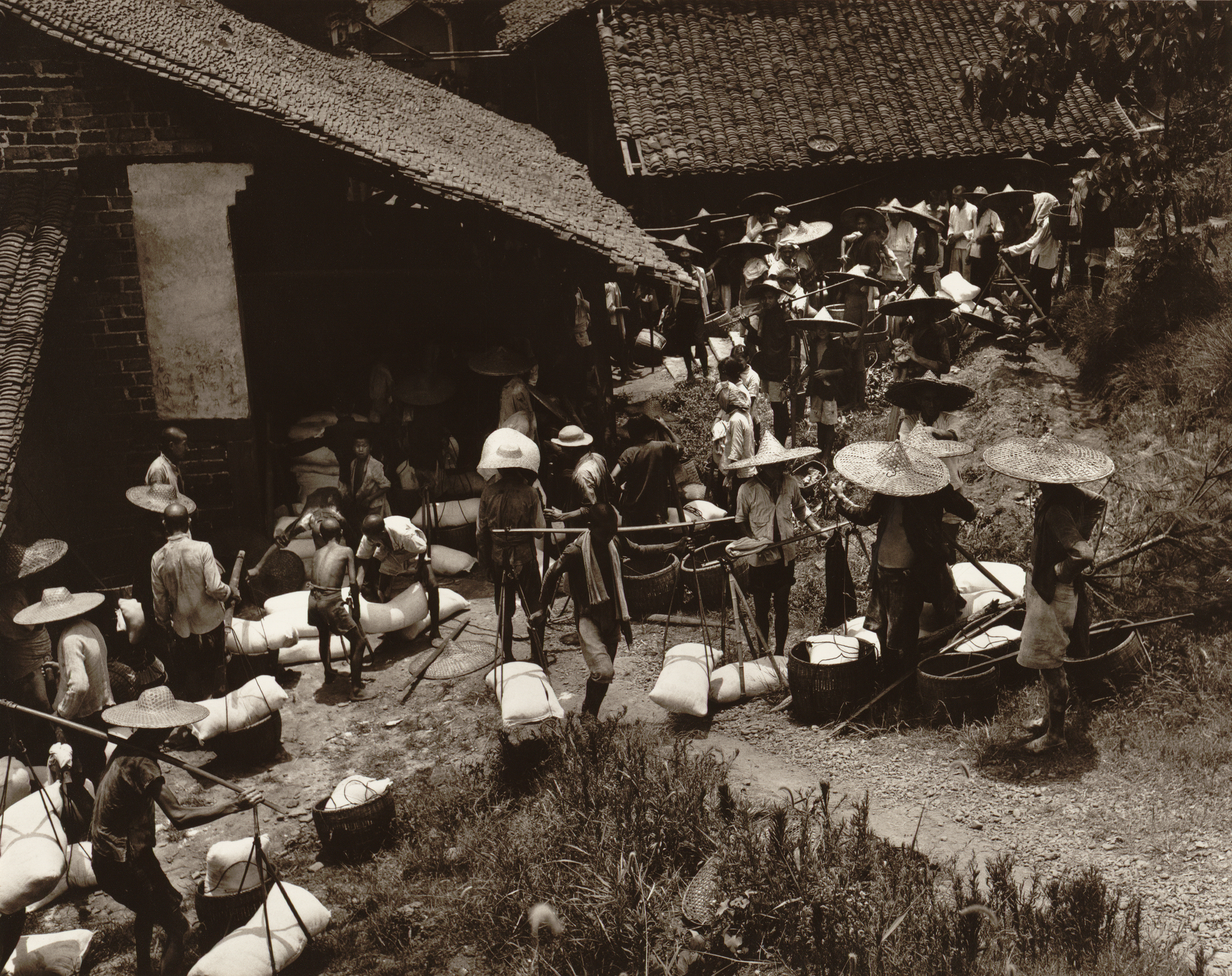 Distribution of rice during time of famine, China, 1945