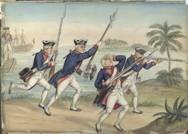 File:Attacking spanish infantry (about 1740).jpg ...
