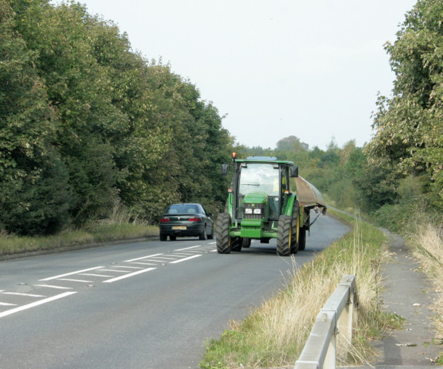 File:B4465 Westerleigh Road with tractor - geograph.org.uk - 1505521.jpg