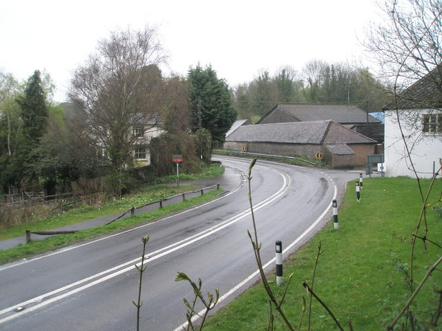 File:Bend in road passing Amberley Working Museum - geograph.org.uk - 1245604.jpg