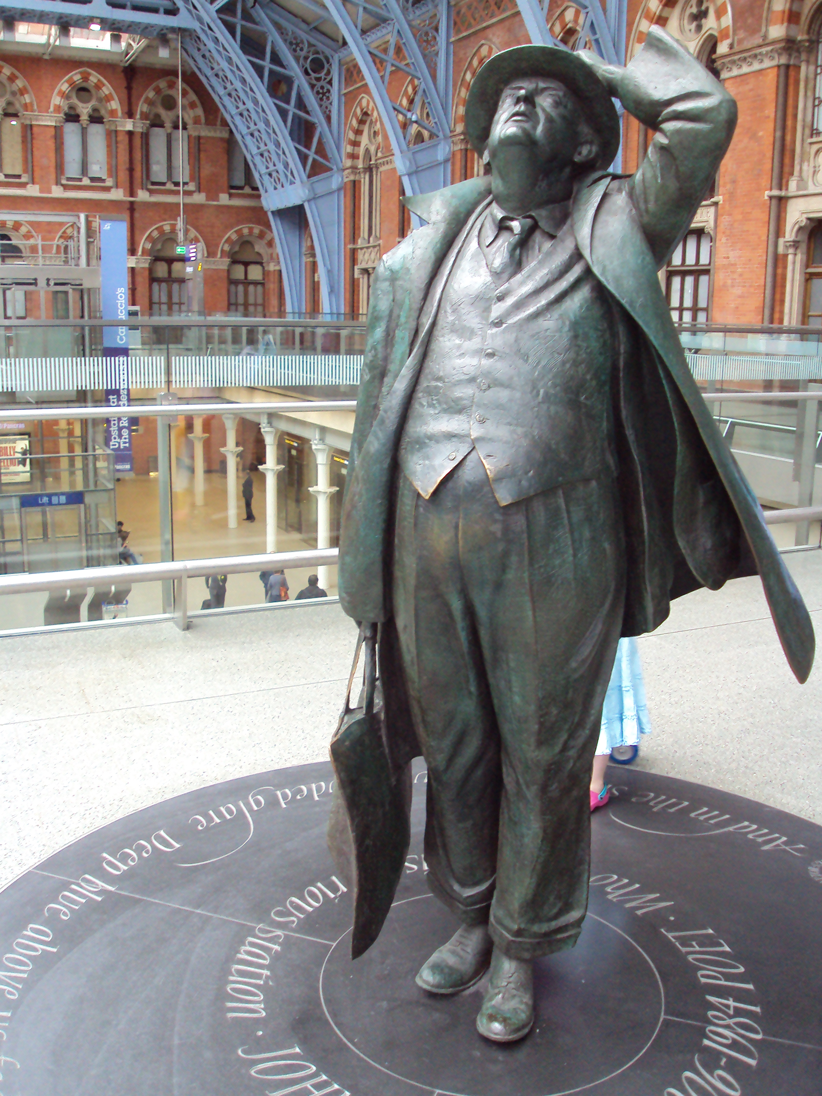 Image result for betjeman statue st pancras