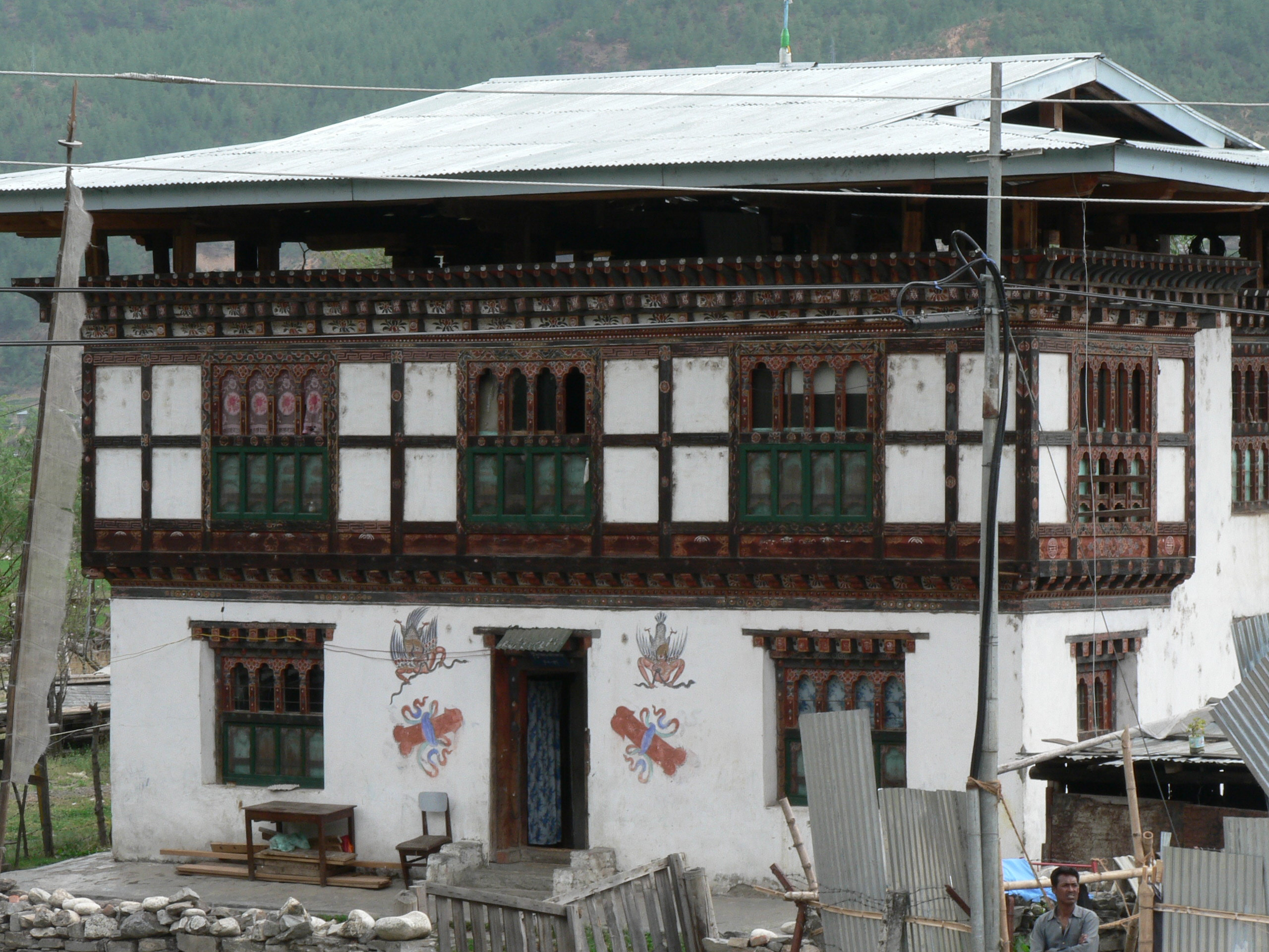 File bhutanese house wikipedia for Small house design in nepal