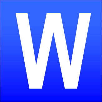 File Blue Square W Png Wikimedia Commons