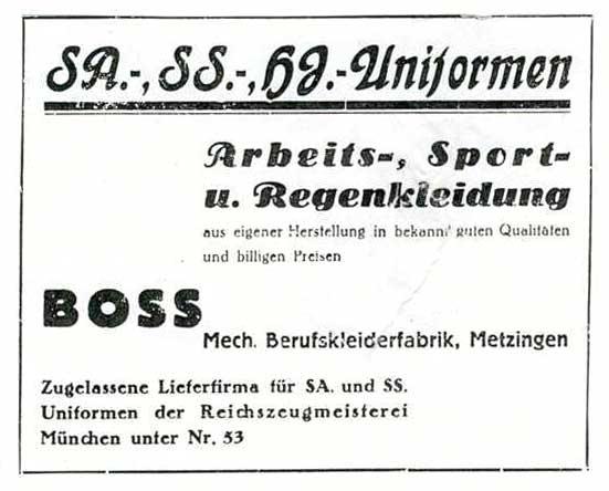 Hugo Boss y el diseño de los uniformes nazis